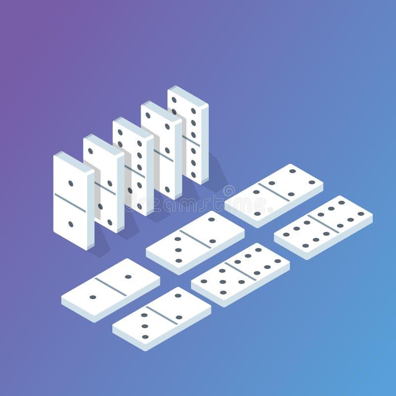 Concept isométrique de domino Illustration de vecteur illustration libre de droits