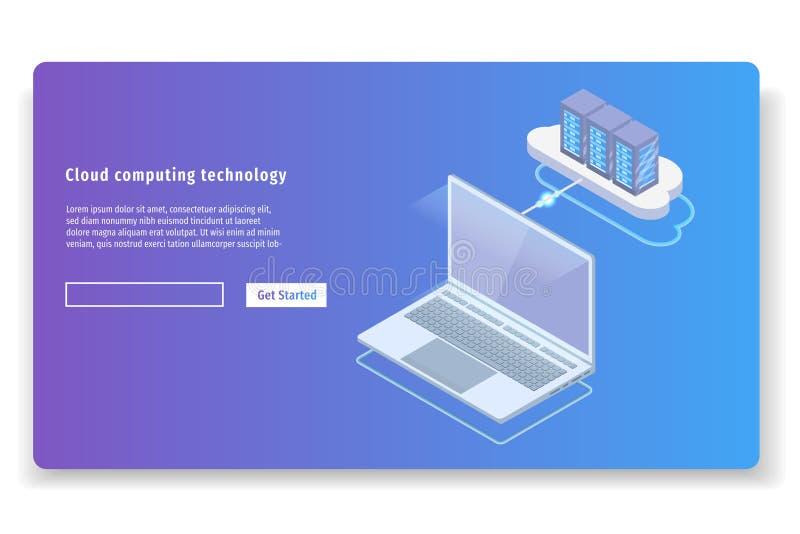 Concept isométrique de la technologie informatique 3D de nuage illustration libre de droits