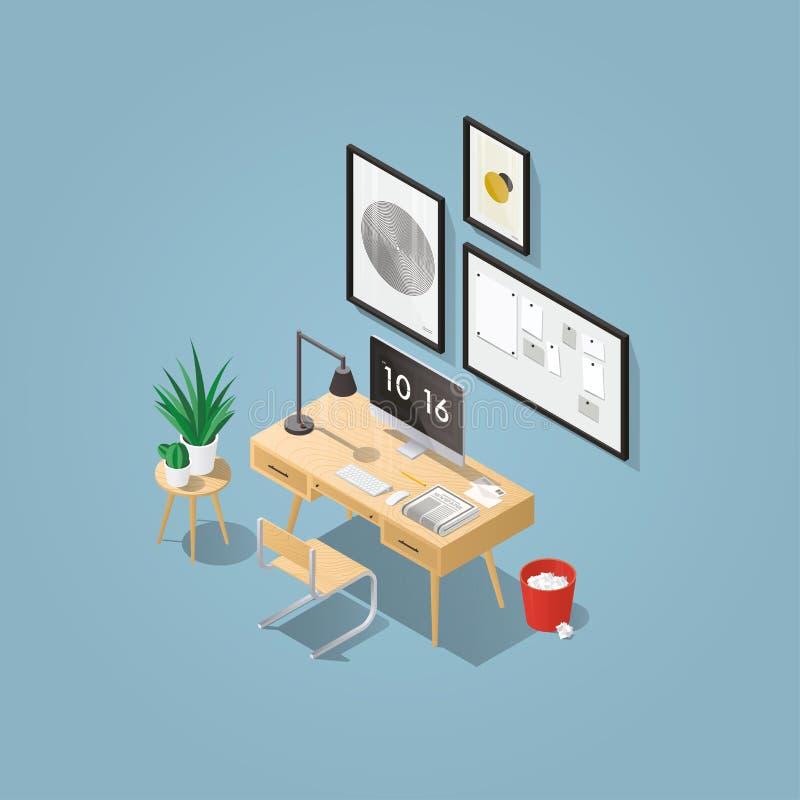 Concept isométrique de siège social illustration de vecteur