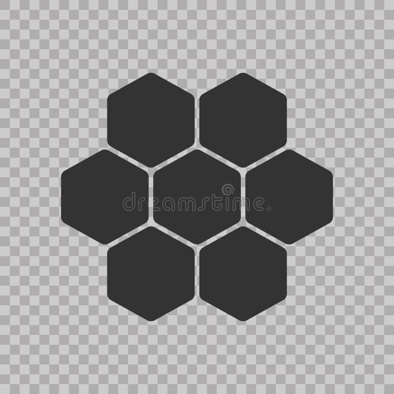 Concept isométrique Hexogen de logo, illustration de vecteur de nid d'abeilles Style plat de construction de conception Modèle de illustration de vecteur