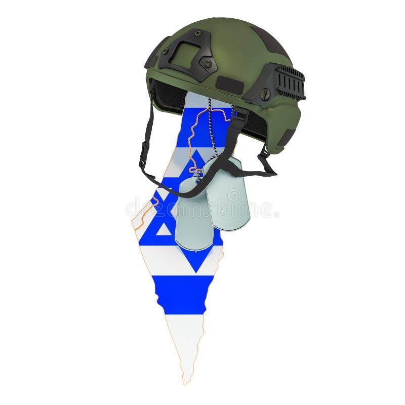 Concept israélien de force militaire, d'armée ou de guerre rendu 3d illustration de vecteur