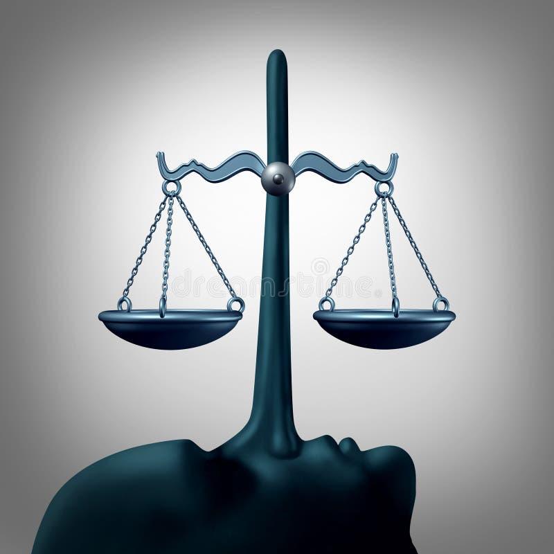 Concept juridique de malhonnêteté illustration de vecteur