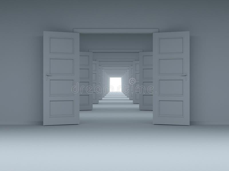 Concept keus, innovatie. 3D. royalty-vrije illustratie
