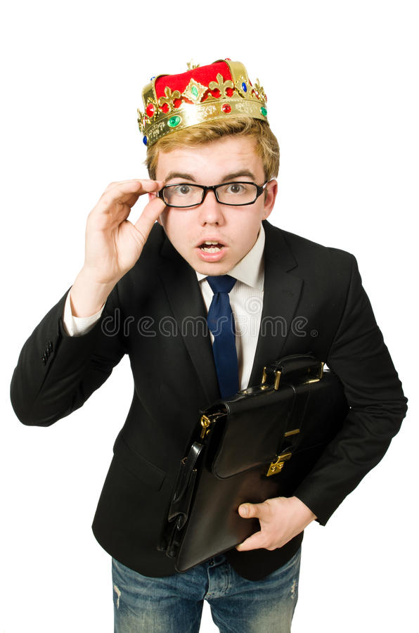 Concept of king businessman stock images