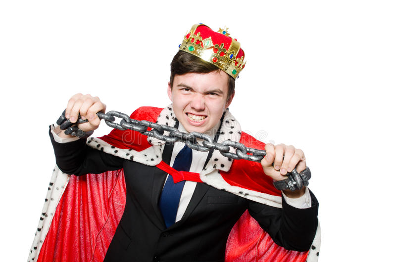Concept of king businessman stock photos