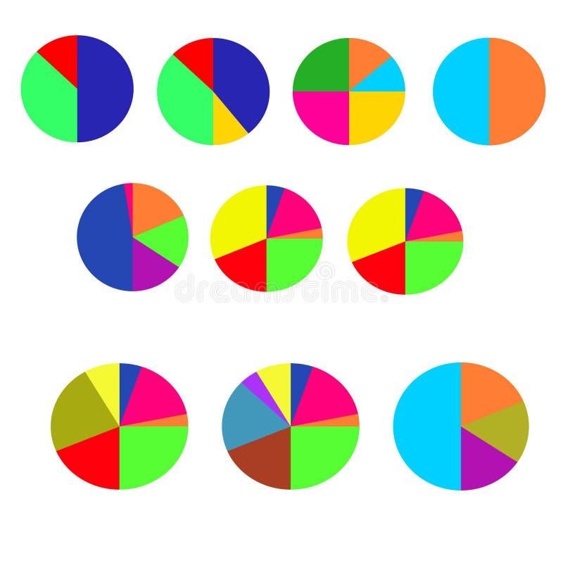 Concept kleurrijke banners voor verschillend bedrijfsontwerp Vector illustratie stock afbeelding