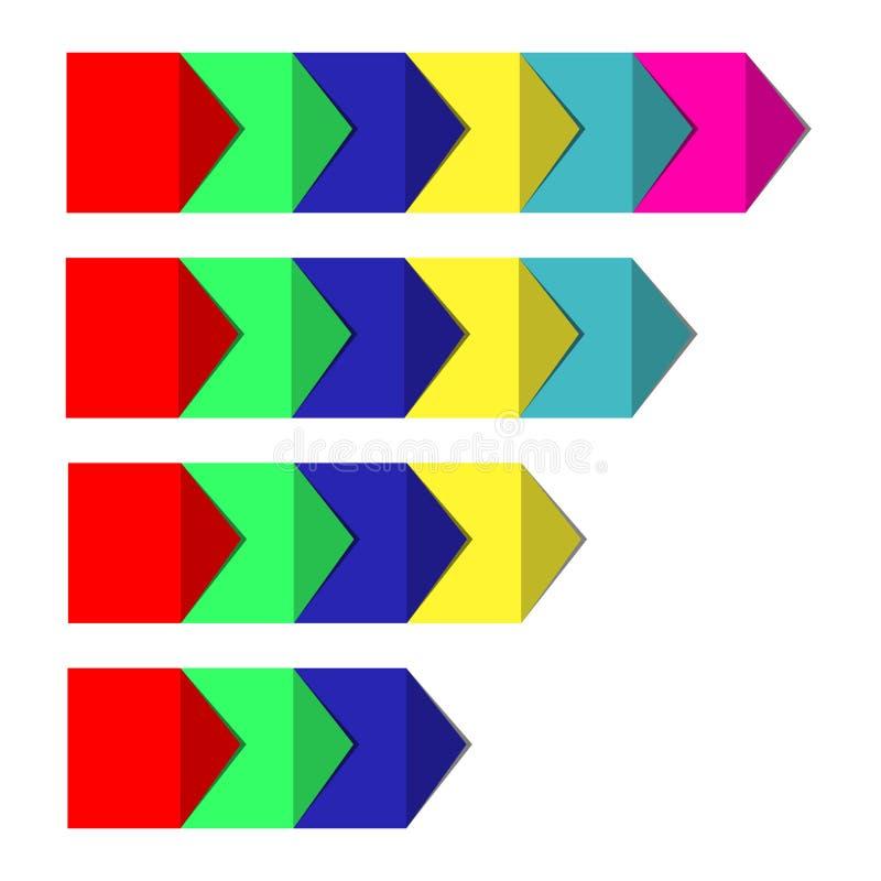 Concept kleurrijke banners voor verschillend bedrijfsontwerp Vector illustratie stock fotografie