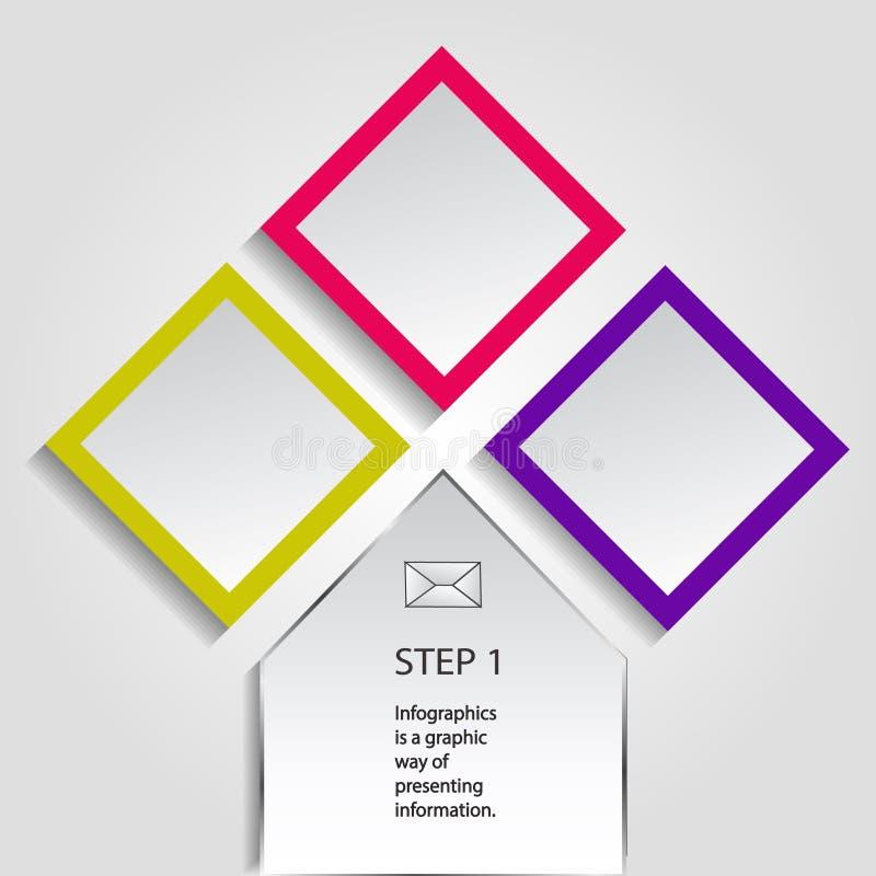 Concept kleurrijke banners voor verschillend bedrijfsontwerp Vector illustratie stock foto