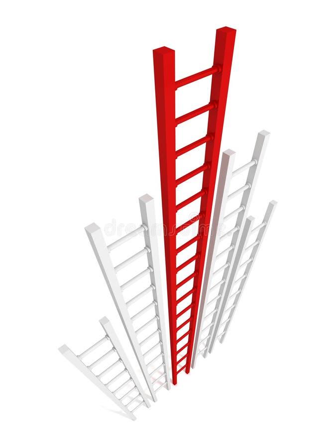 Concept ladder of success. winner of race competition. career ac. Hivement. 3d render illustration vector illustration