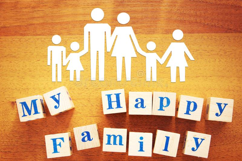Concept of a Large Happy and Friendly Family stock photo