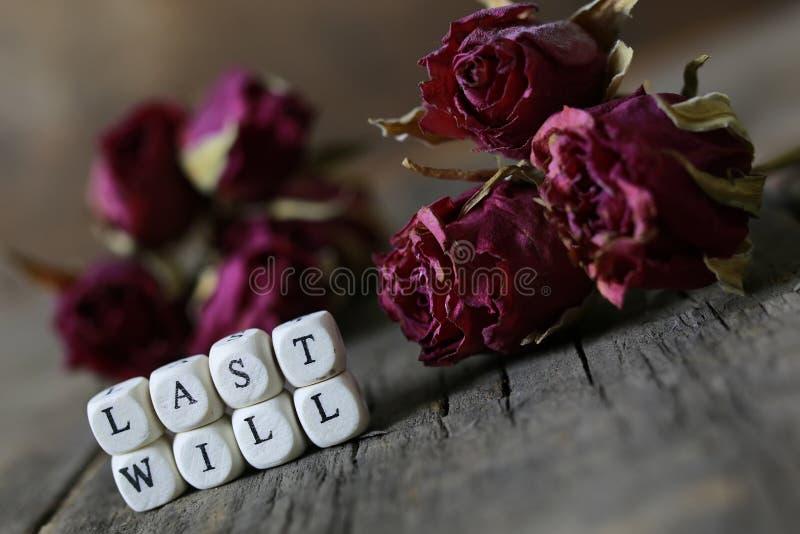 Concept last will and testament stock photo