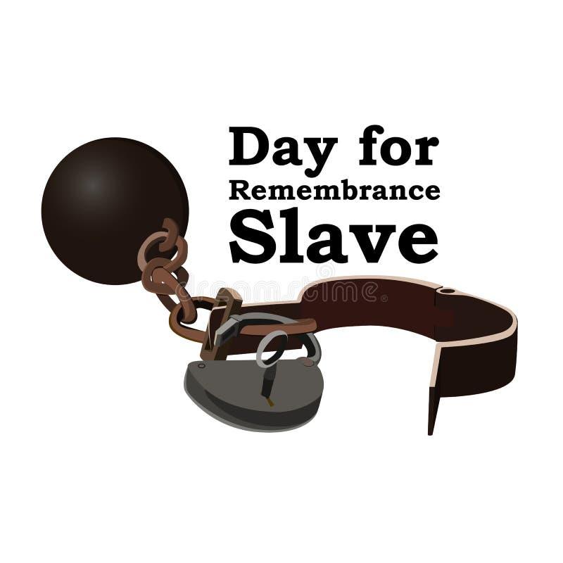 Concept le jour pour l'abolition de l'esclavage Image des dispositifs d'accrochage ouverts, vecteur illustration libre de droits