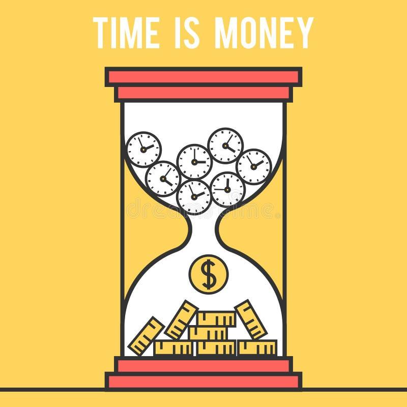 Concept le temps, c'est de l'argent illustration libre de droits
