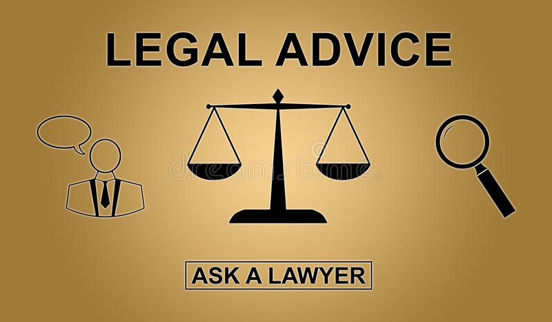 Concept of legal advice stock illustration