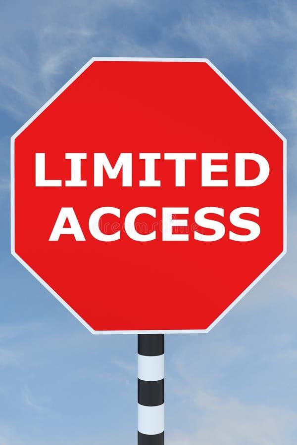 Concept limité d'Access photos stock