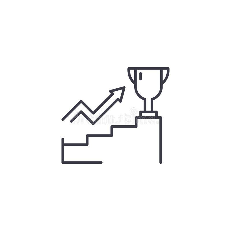 Concept linéaire d'icône d'ambitions de direction Les ambitions de direction rayent le signe de vecteur, symbole, illustration illustration de vecteur