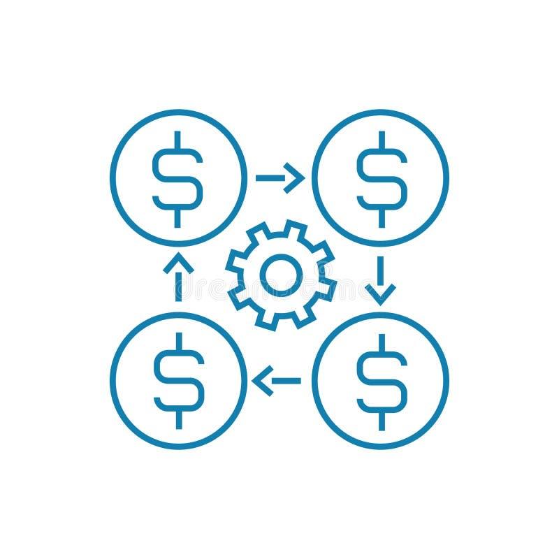 Concept linéaire d'icône de directeur financier Ligne financière signe de vecteur, symbole, illustration de directeur illustration de vecteur