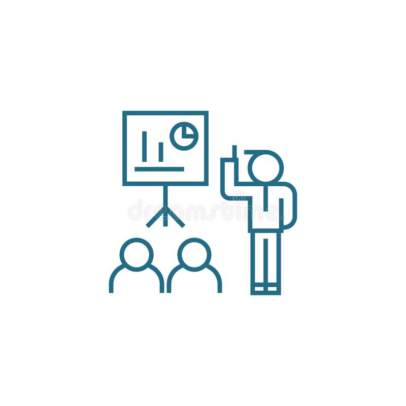 Concept linéaire d'icône de formation professionnelle Ligne signe de vecteur, symbole, illustration de formation professionnelle illustration libre de droits