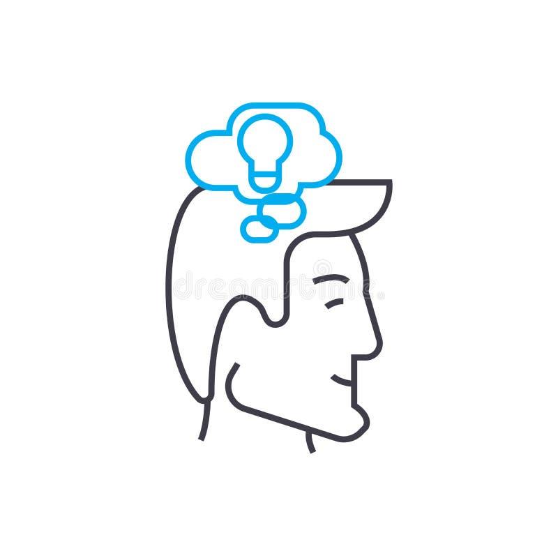 Concept linéaire d'icône de générateur du ` s d'idée Ligne signe de vecteur, symbole, illustration de générateur du ` s d'idée illustration de vecteur