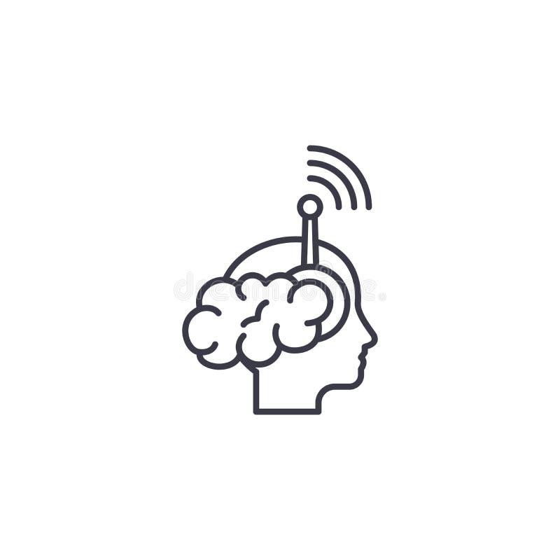 Concept linéaire d'icône de perception individuelle Ligne individuelle signe de vecteur, symbole, illustration de perception illustration stock