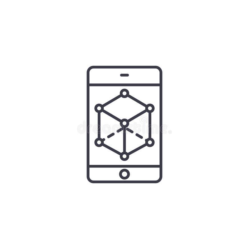 Concept linéaire d'icône de perspective d'affaires Ligne signe de vecteur, symbole, illustration de perspective d'affaires illustration libre de droits