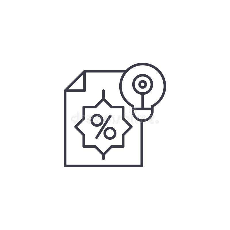 Concept linéaire d'icône de proposition financière Ligne financière signe de vecteur, symbole, illustration de proposition illustration libre de droits