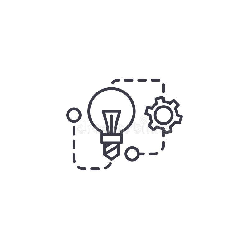 Concept linéaire d'icône de technologies innovatrices Les technologies innovatrices rayent le signe de vecteur, symbole, illustra illustration libre de droits