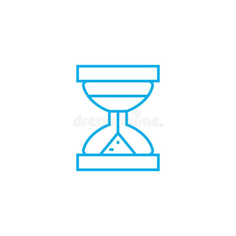 Concept linéaire d'icône de temps limité Ligne de temps limité signe de vecteur, symbole, illustration illustration libre de droits