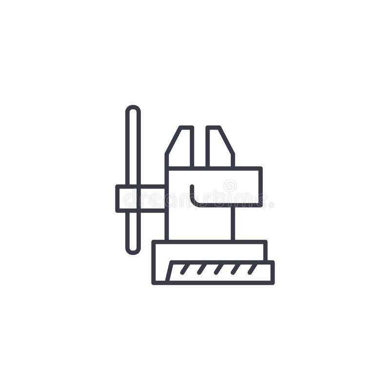Concept linéaire de processus vice d'icône Chaîne de fabrication vice signe de vecteur, symbole, illustration illustration de vecteur