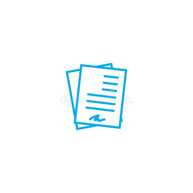 Concept linéaire fonctionnant d'icône de documentation La documentation fonctionnante rayent le signe de vecteur, symbole, illust illustration libre de droits