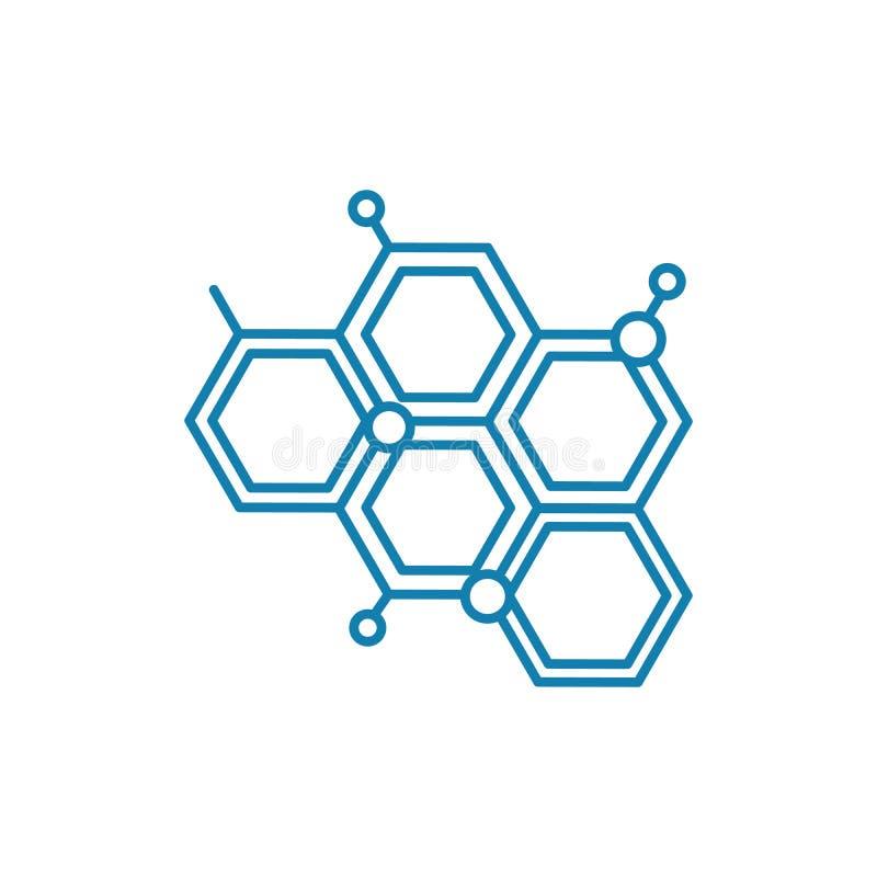 Concept linéaire humain d'icône d'ADN Ligne humaine signe de vecteur, symbole, illustration d'ADN illustration libre de droits