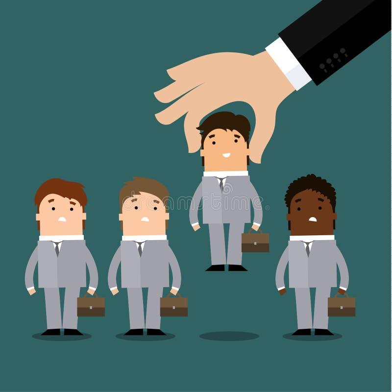 Concept, location ou recrutement de ressources humaines illustration stock