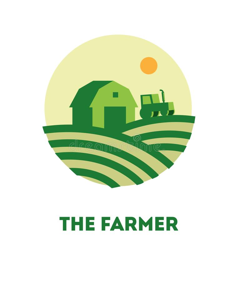 Concept logo the farmer royalty free illustration