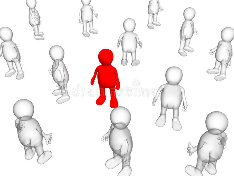 Download The Concept - Loneliness Among Crowd Stock Illustration - Image: 5085584