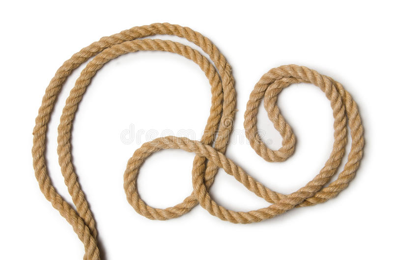 The concept with long hemp rope. Concept with long hemp rope royalty free stock photo