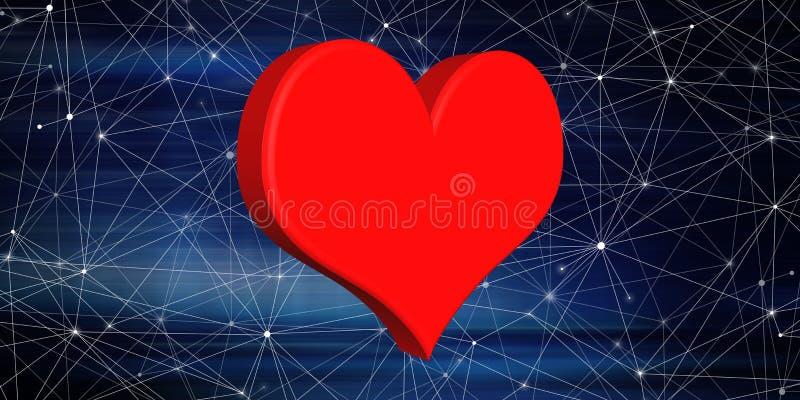 Concept of love stock illustration