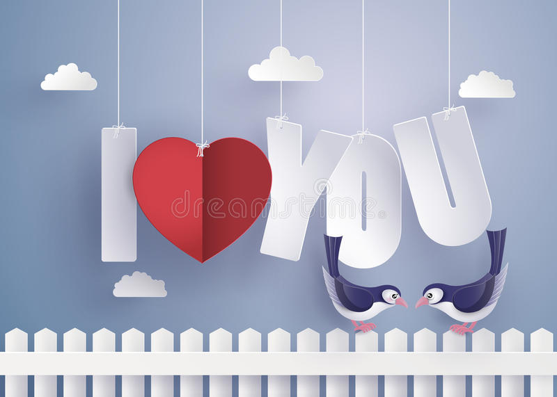 Concept of love and Valentine day. royalty free illustration