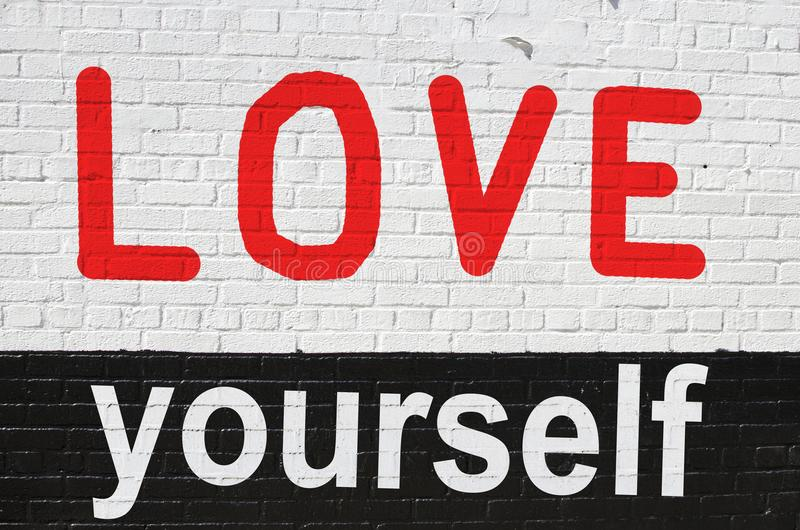 Concept of loving yourself royalty free stock photo
