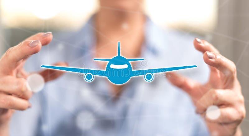 Concept luchtvervoer stock foto's