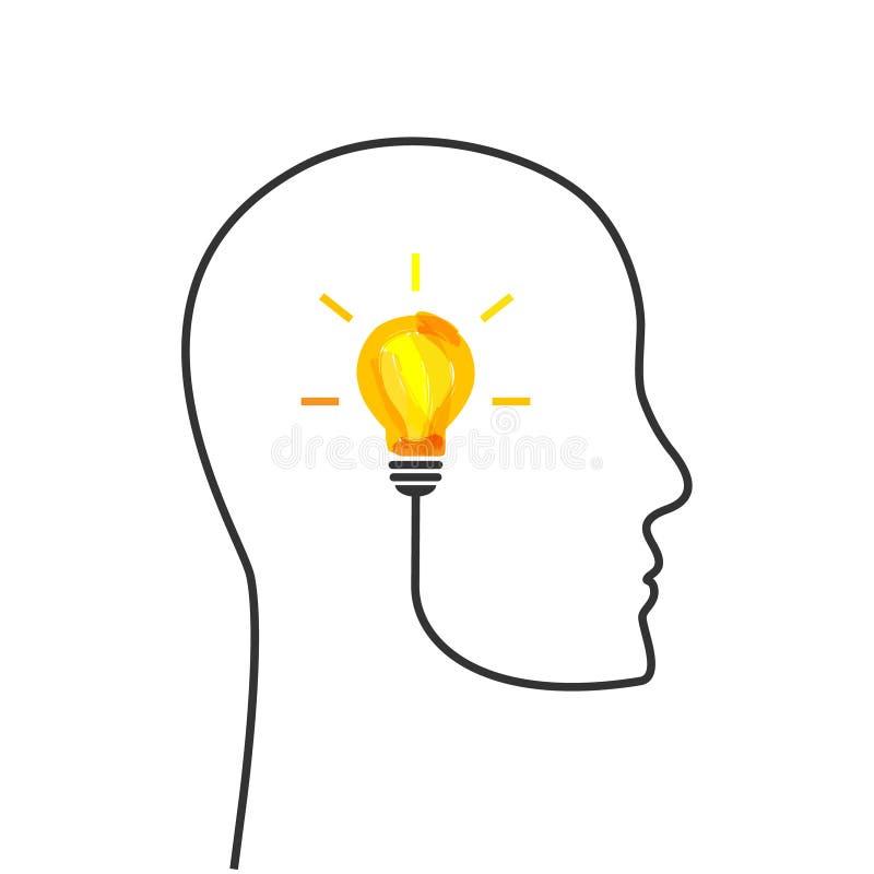 Concept lumineux d'idée illustration stock