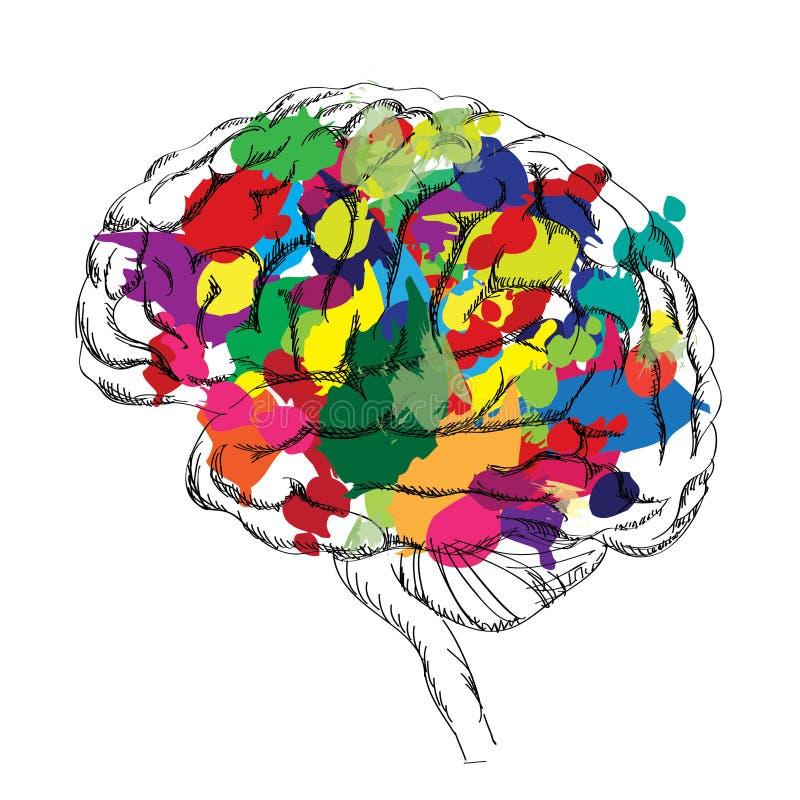 Concept lumineux de cerveau Vecteur d'isolement illustration de vecteur