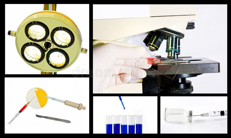 Concept médical de collage de recherches scientifiques image libre de droits