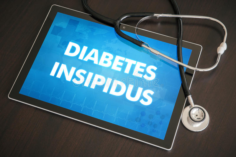 Concept médical de diagnostic d'insipidus de diabète (la maladie endocrinienne) photo libre de droits