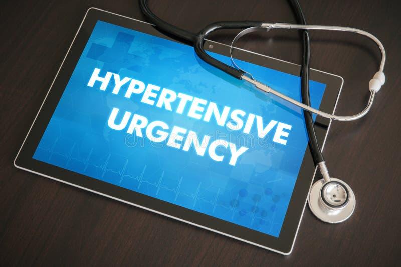 Concept médical de diagnostic hypertendu d'urgence (trouble cardiaque) photo libre de droits