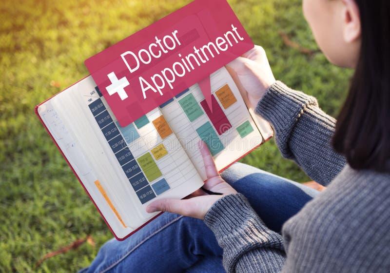Concept médical de docteur Appointment Diagnosis Treatment image libre de droits