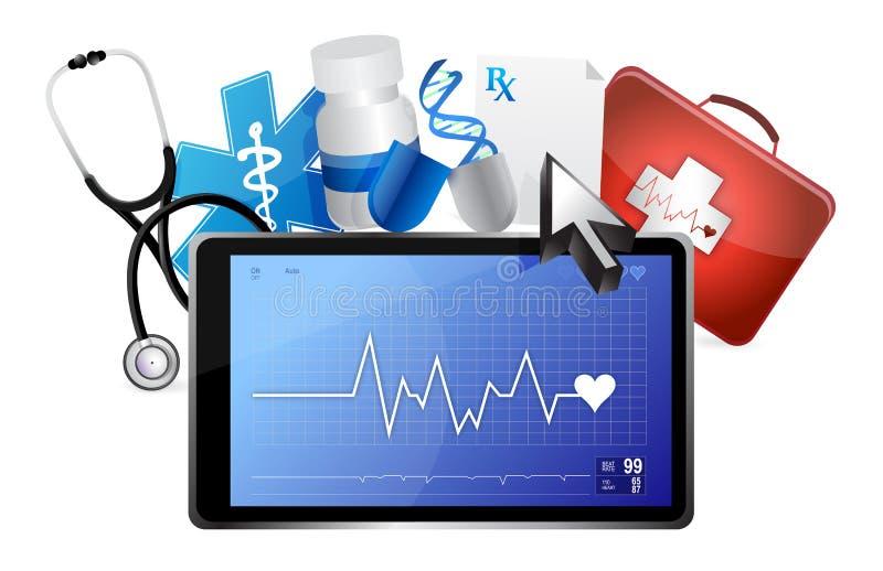 Concept médical de ligne de sauvetage illustration libre de droits