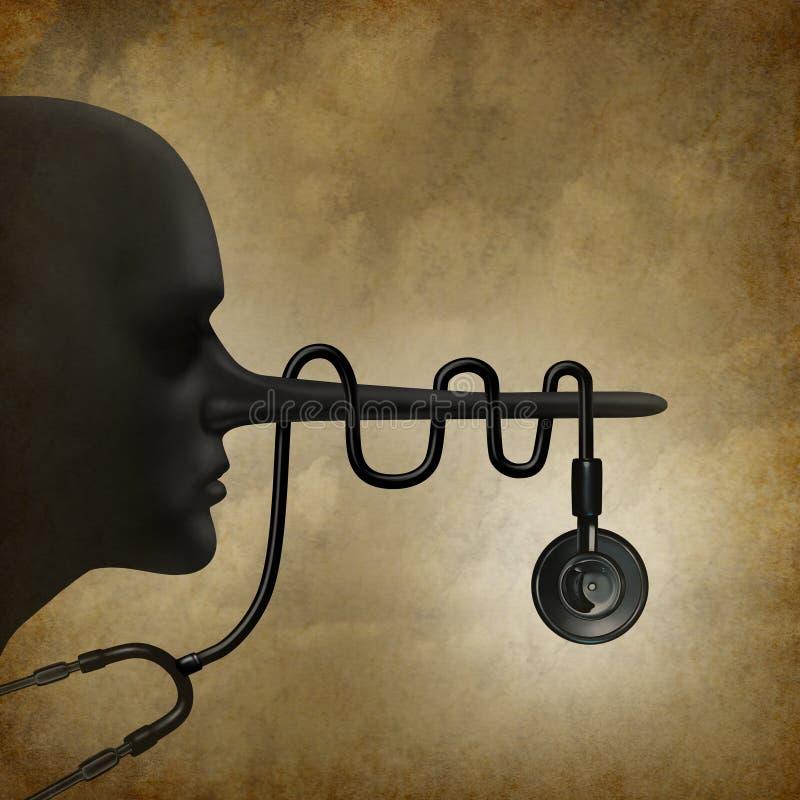 Concept médical de mensonges illustration stock
