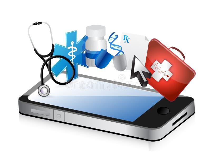 Concept médical de Smartphone illustration libre de droits