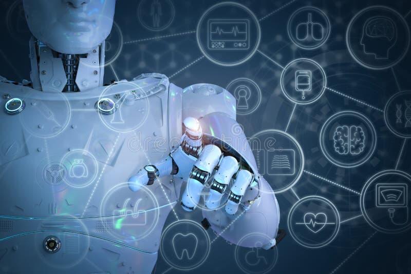 Concept médical de technologie illustration stock