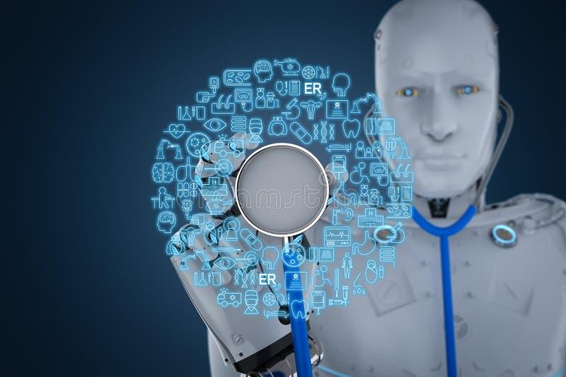Concept médical de technologie illustration de vecteur